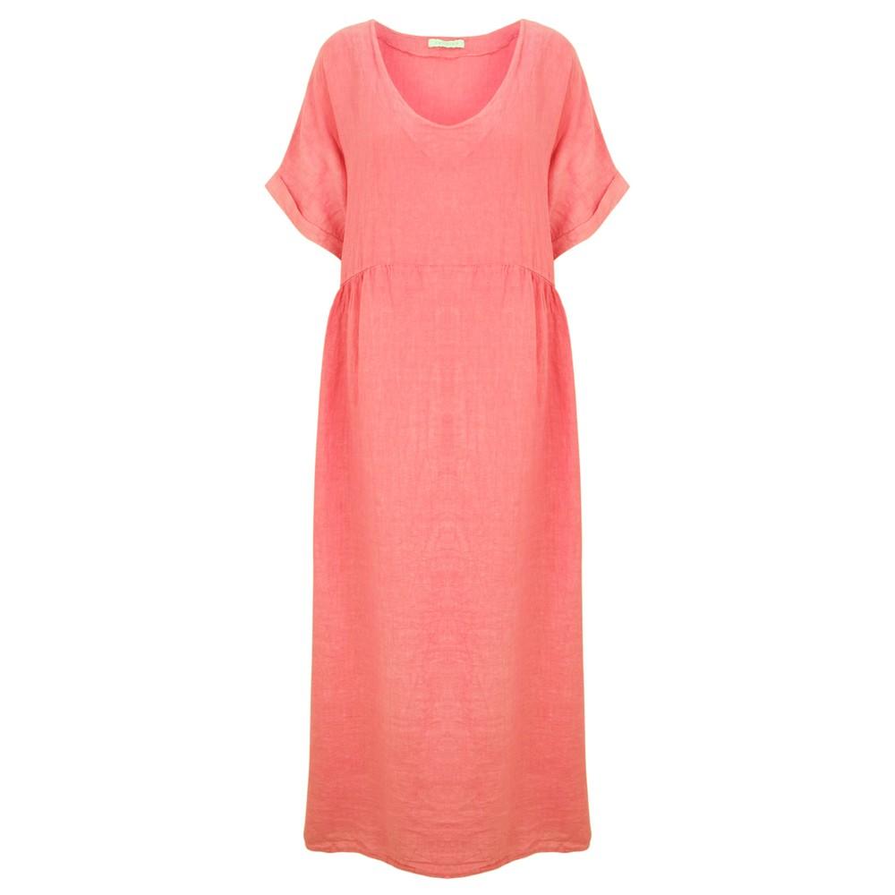 Amazing Woman Curve Tesa Curve Midi Dress Coral