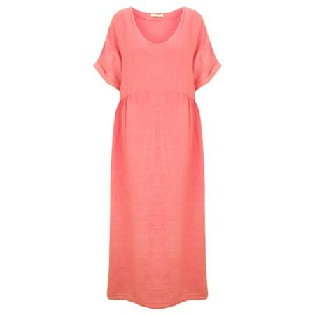 Amazing Woman Curve Tesa Curve Midi Dress - Orange