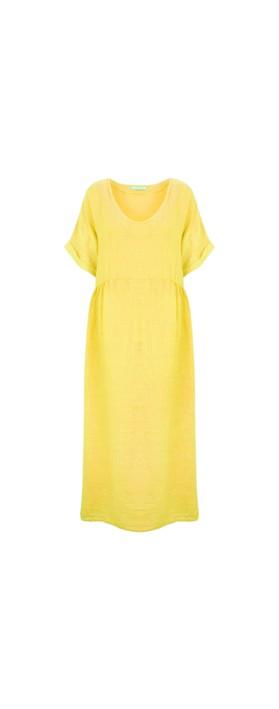 Amazing Woman Curve Tesa Curve Midi Dress Lemon