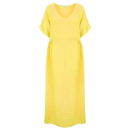 Amazing Woman Curve Tesa Curve Midi Dress - Yellow