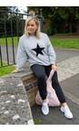 Chalk Grey Marl / Black Ruby Star Sweatshirt