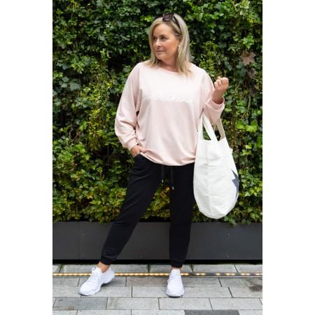 Chalk Nancy Weekend Oversized Comfy Sweatshirt - Pink