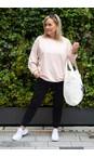 Chalk Dusky Pink / White Nancy Weekend Oversized Comfy Sweatshirt