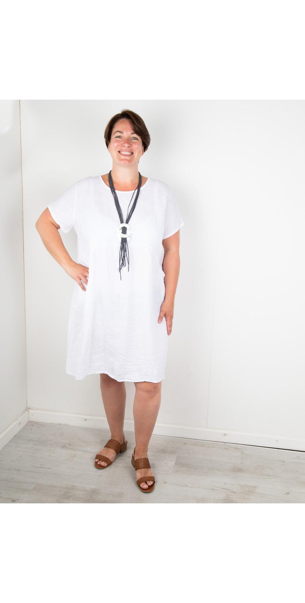 Lexia Curve Linen Dress main image