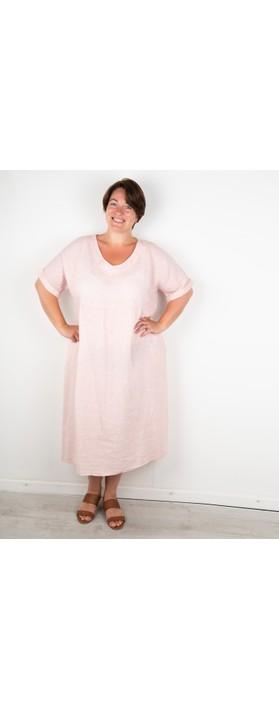 Amazing Woman Curve Tesa Curve Midi Dress Rose