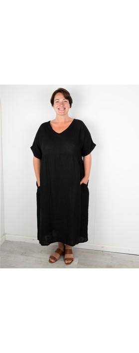 Amazing Woman Curve Tesa Curve Midi Dress Black