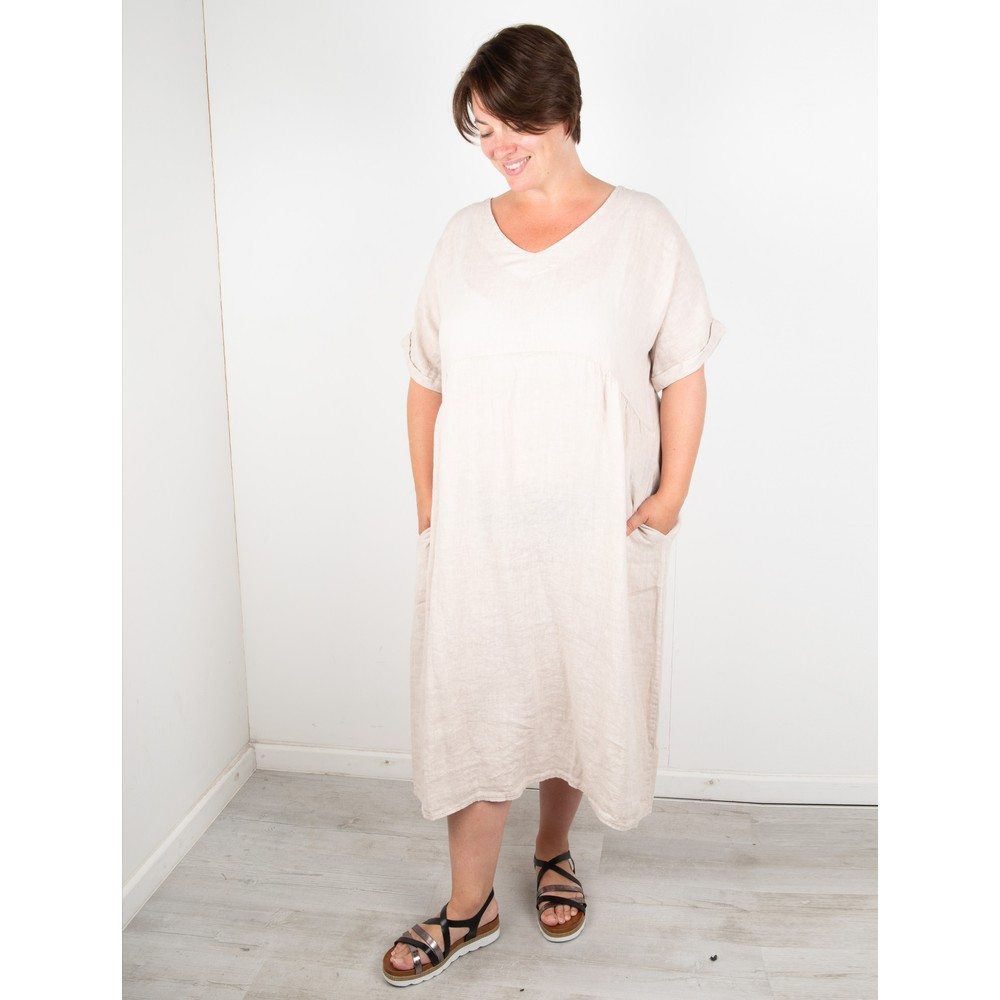 Amazing Woman Curve Tesa Curve Midi Dress Natural