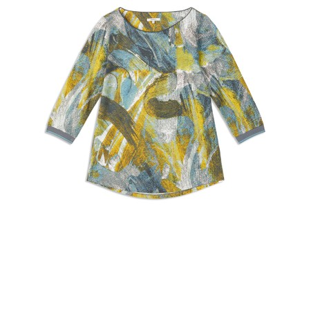 Sandwich Clothing Abstract Brush Stroke T-Shirt - Blue