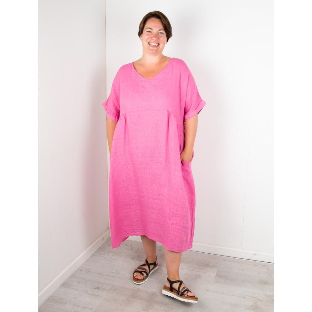 Amazing Woman Curve Tesa Curve Midi Dress Pink Confetti