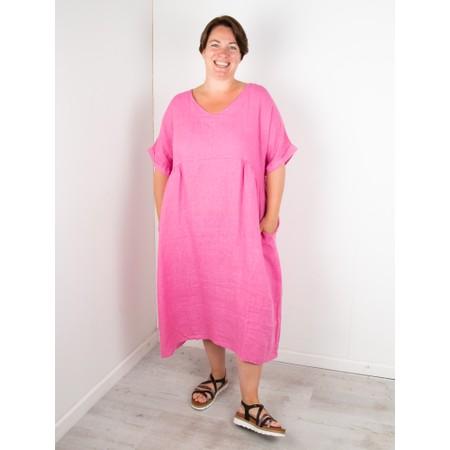 Amazing Woman Curve Tesa Curve Midi Dress - Pink