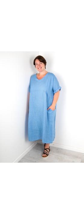 Amazing Woman Curve Tesa Curve Midi Dress Blue