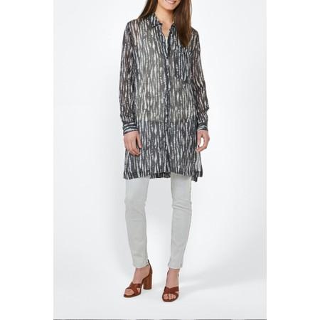 Sandwich Clothing Long Sleeve Tie Dye Tunic Blouse - Grey