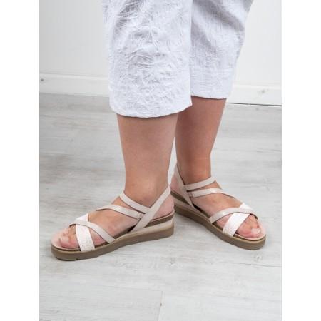 Marco Tozzi Elvo Wedge Sandal - Pink