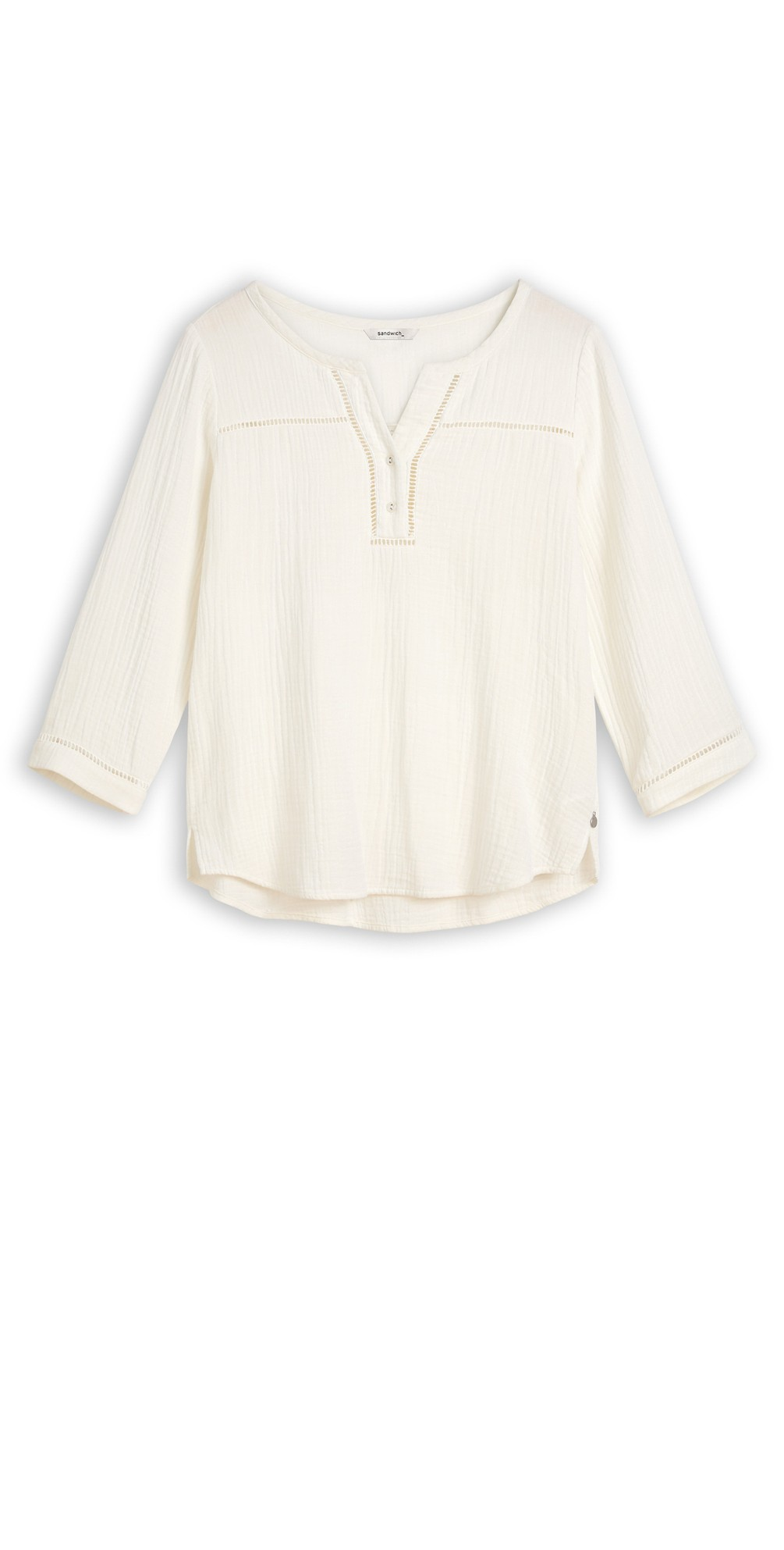 Long Sleeve Embroidered Blouse main image