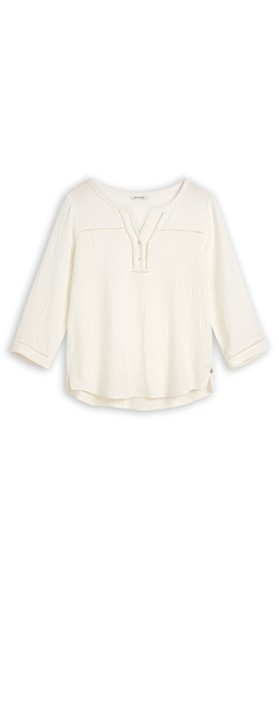 Sandwich Clothing Long Sleeve Embroidered Blouse Crisp White