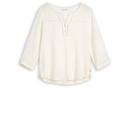 Sandwich Clothing Long Sleeve Embroidered Blouse - White