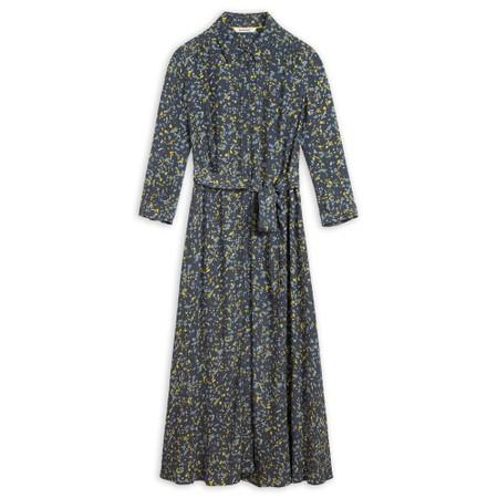 Sandwich Clothing  Long Line Paint Spot Dress - Blue