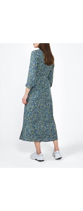 Sandwich Clothing  Long Line Paint Spot Dress Deep Water