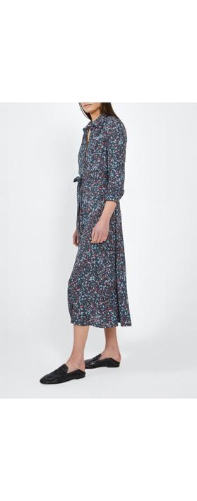 Sandwich Clothing  Long Line Paint Spot Dress Hot Coral