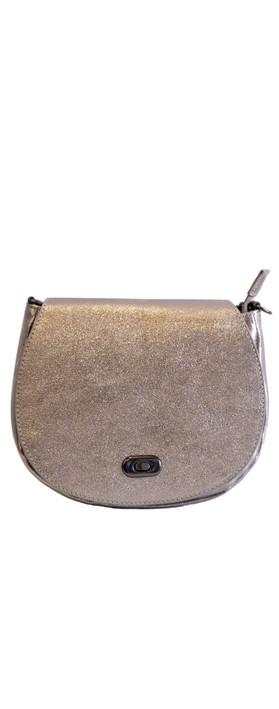 Gemini Label Bags Amber Leather Shoulder bag Bronze