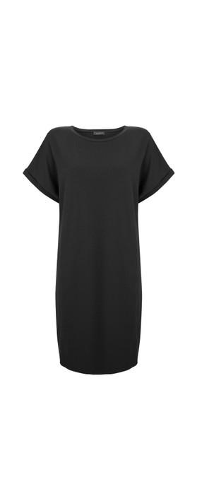 Chalk Alice Organic Jersey Dress Black