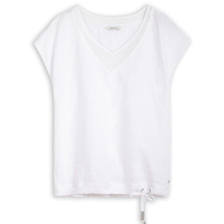 Sandwich Clothing Tie Hemline Blouse - White
