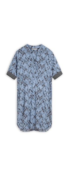 Sandwich Clothing Abstract Spot Print Dress Ashley Blue