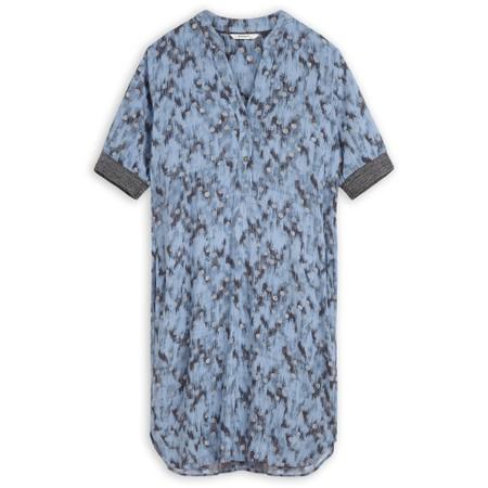 Sandwich Clothing Abstract Spot Print Dress - Blue