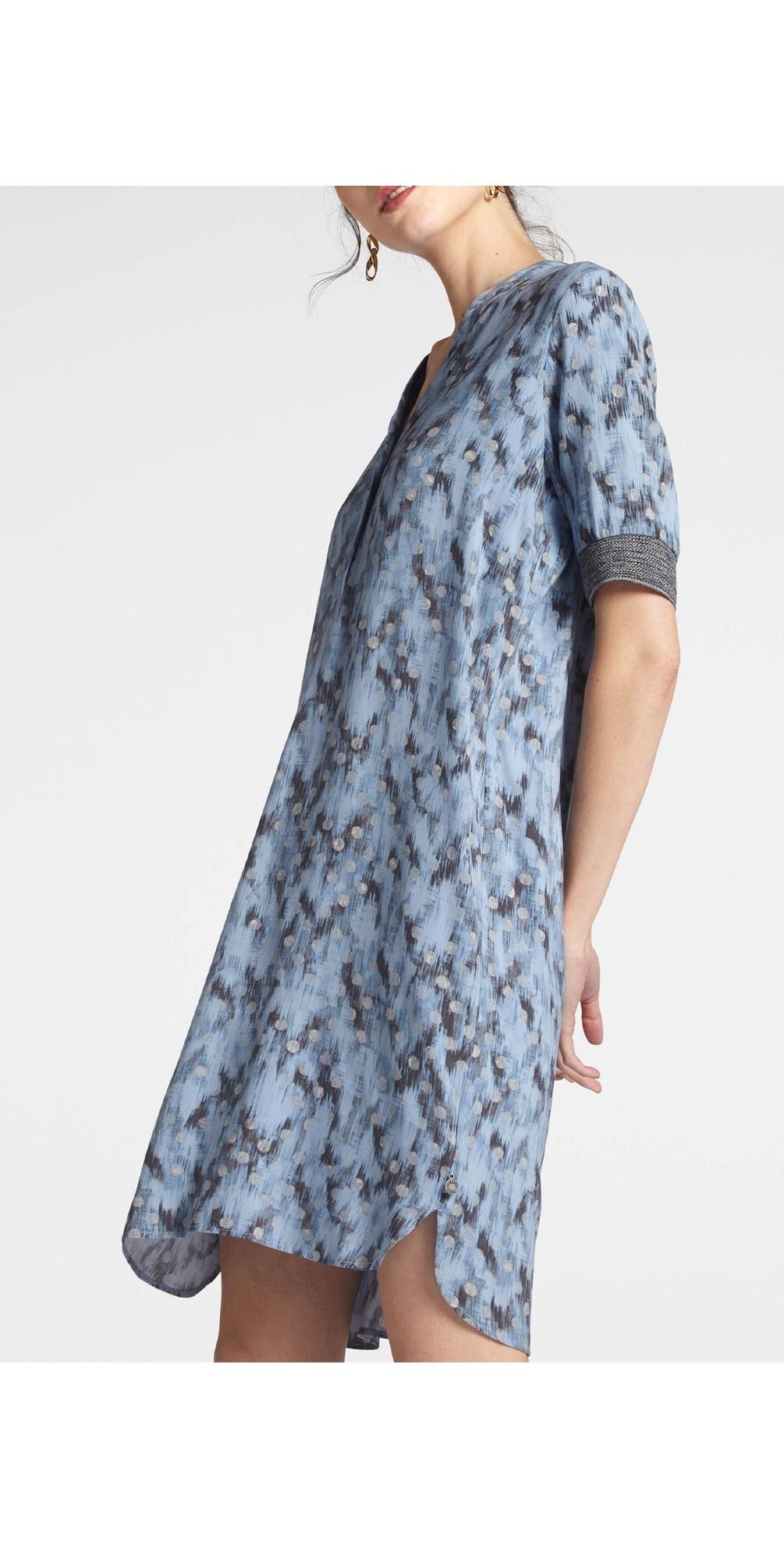 Abstract Spot Print Dress main image