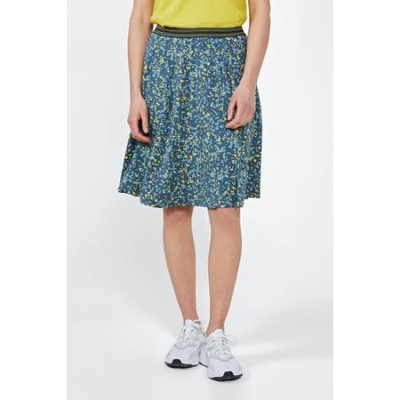 Sandwich Clothing Jersey Spot Print Skirt - Blue
