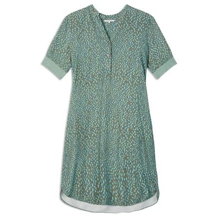 Sandwich Clothing Abstract Spot Print Dress - Green