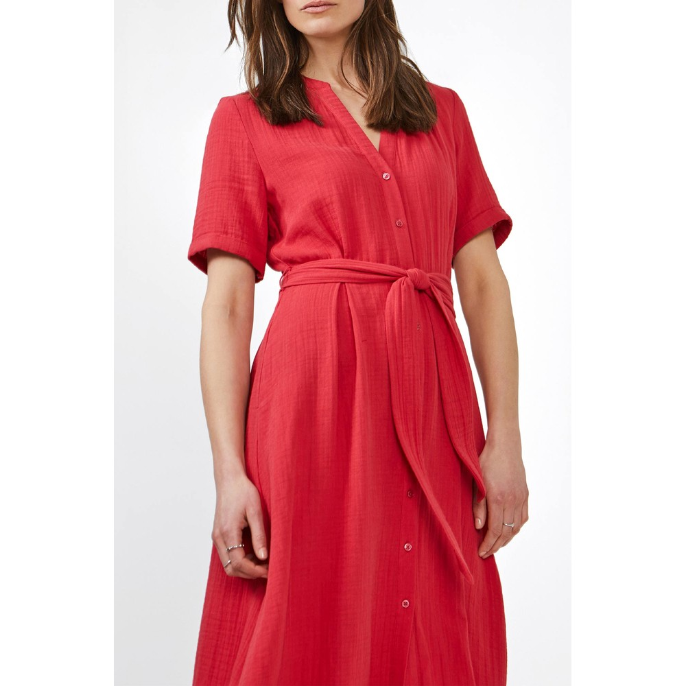 Sandwich Clothing Long Cotton Dress  Ruby Blush