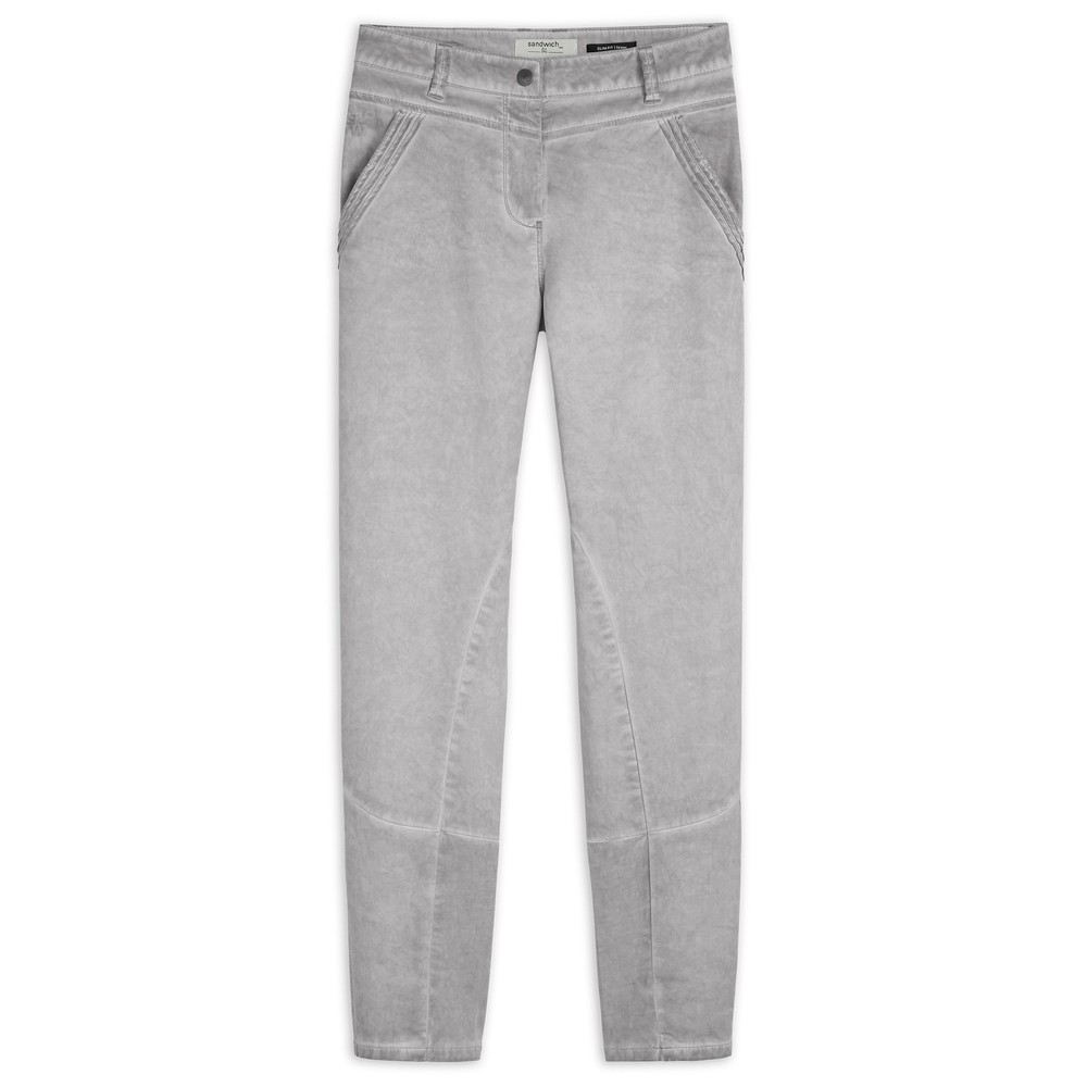 Sandwich Clothing Skinny Slim Fit Washed Jeans Light Stone