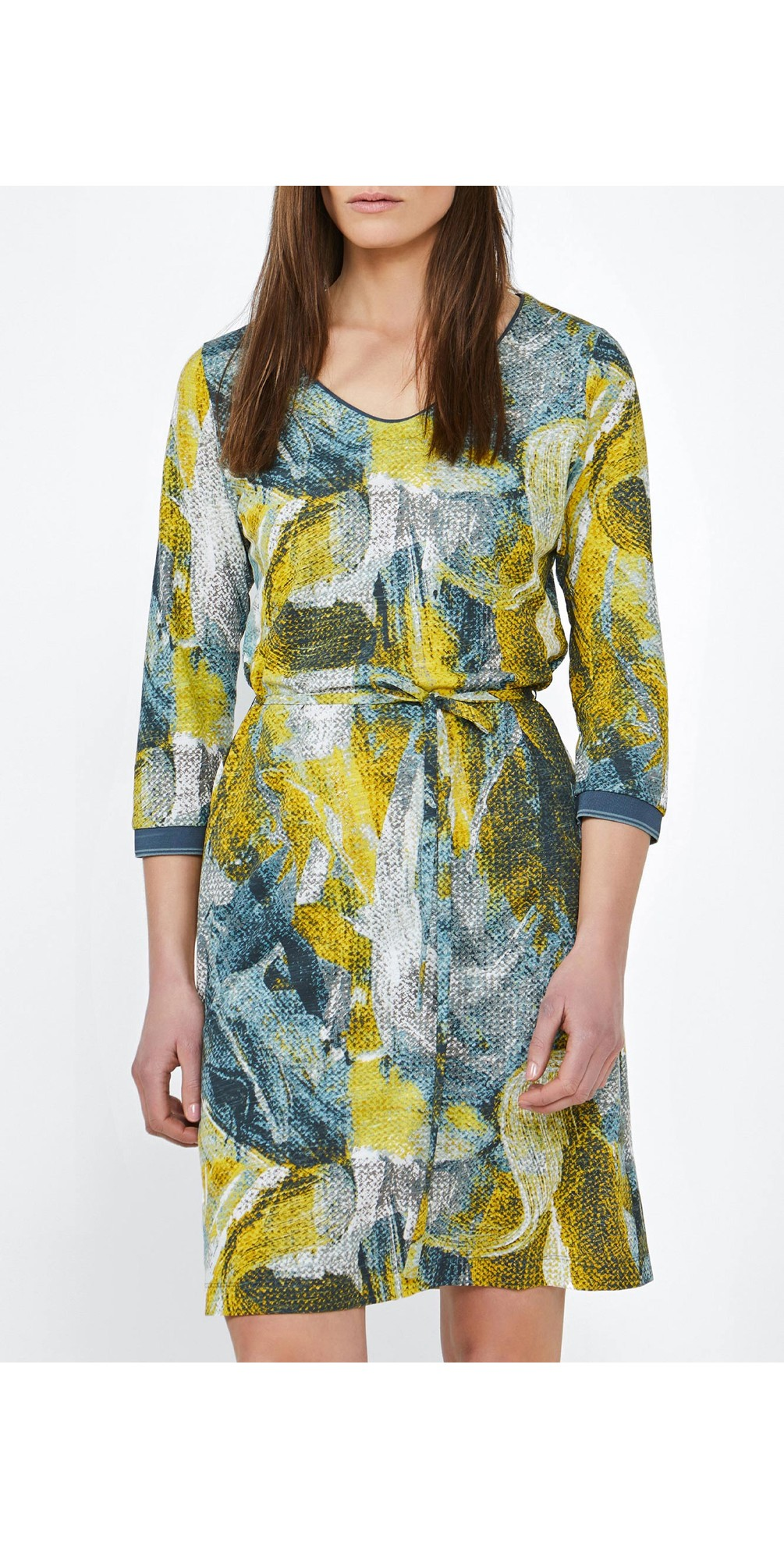 Dress with Painted Print  main image