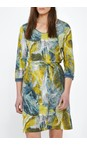 Sandwich Clothing Blue Shadow Dress with Painted Print