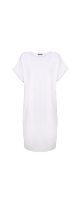 Chalk Alice Organic Jersey Dress White