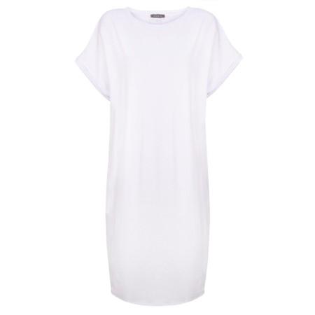 Chalk Alice Organic Jersey Dress - White