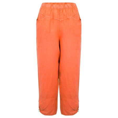 Amazing Woman Orla Cropped Linen Trouser - Pink