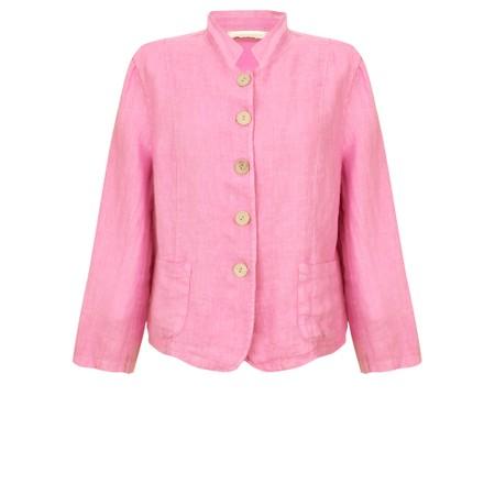 Amazing Woman Katia Front Pocket Short Jacket - Pink