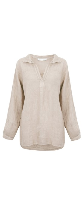 Amazing Woman Bela Long Sleeve Linen Top Natural