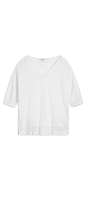 Sandwich Clothing Long Sleeve Pullover Pure White