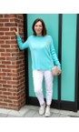 Amazing Woman Summer Turquoise Maggie Seam Front Supersoft Jumper