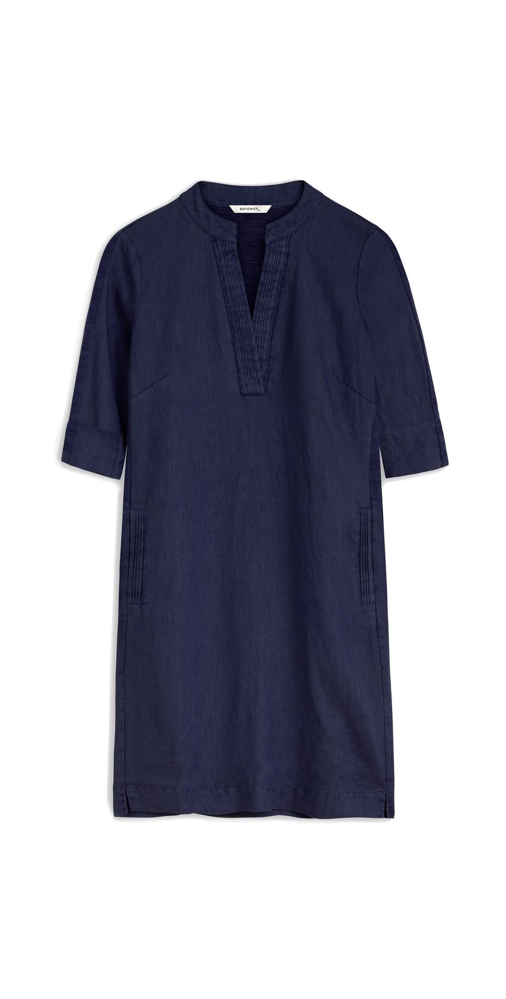 Short, Wide Linen Dress main image