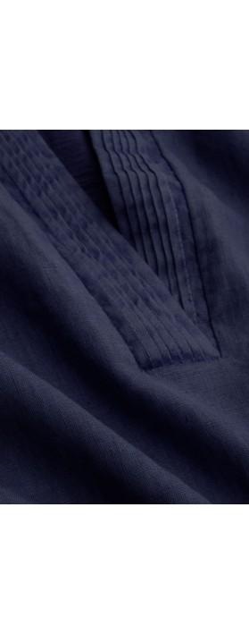 Sandwich Clothing Short, Wide Linen Dress Navy