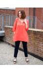 Amazing Woman Coral Tesa V Neck Top