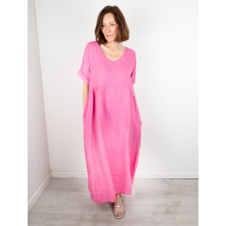 Amazing Woman Tesa Maxi Linen Dress - Pink