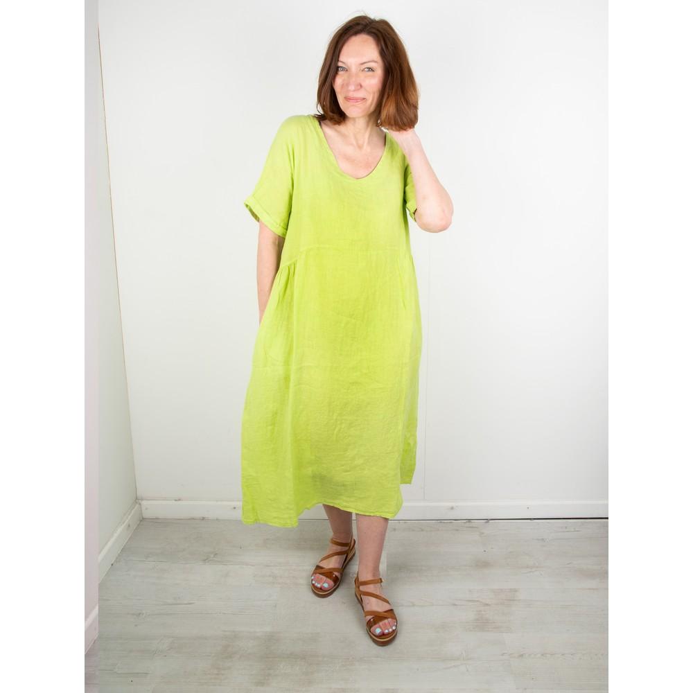 Amazing Woman Curve Tesa Curve Midi Dress Lime