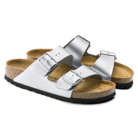 Birkenstock Arizona Silver Birko-Flor® Sandal - Metallic