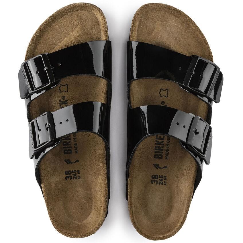 Arizona Black Patent Birko-Flor® Sandal main image