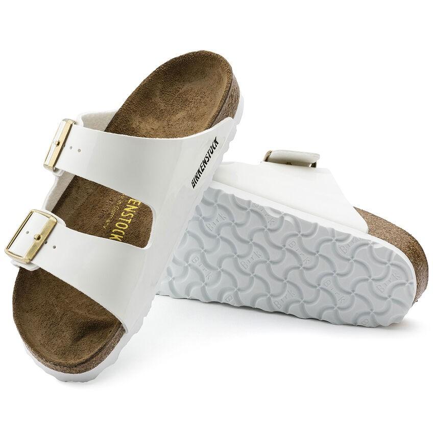Birkenstock Arizona White Patent Birko-Flor® Sandal White Patent